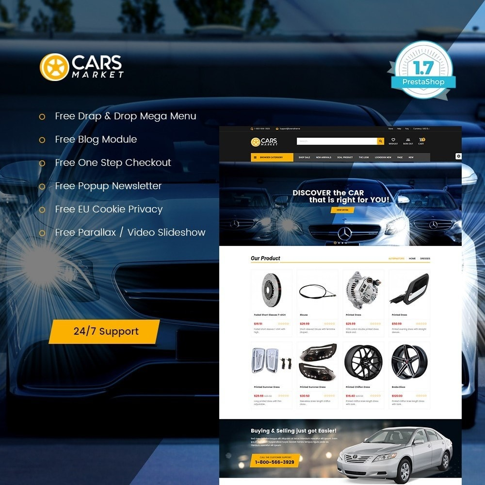 theme - Auto & Moto - Carpart Automobile Store - 1