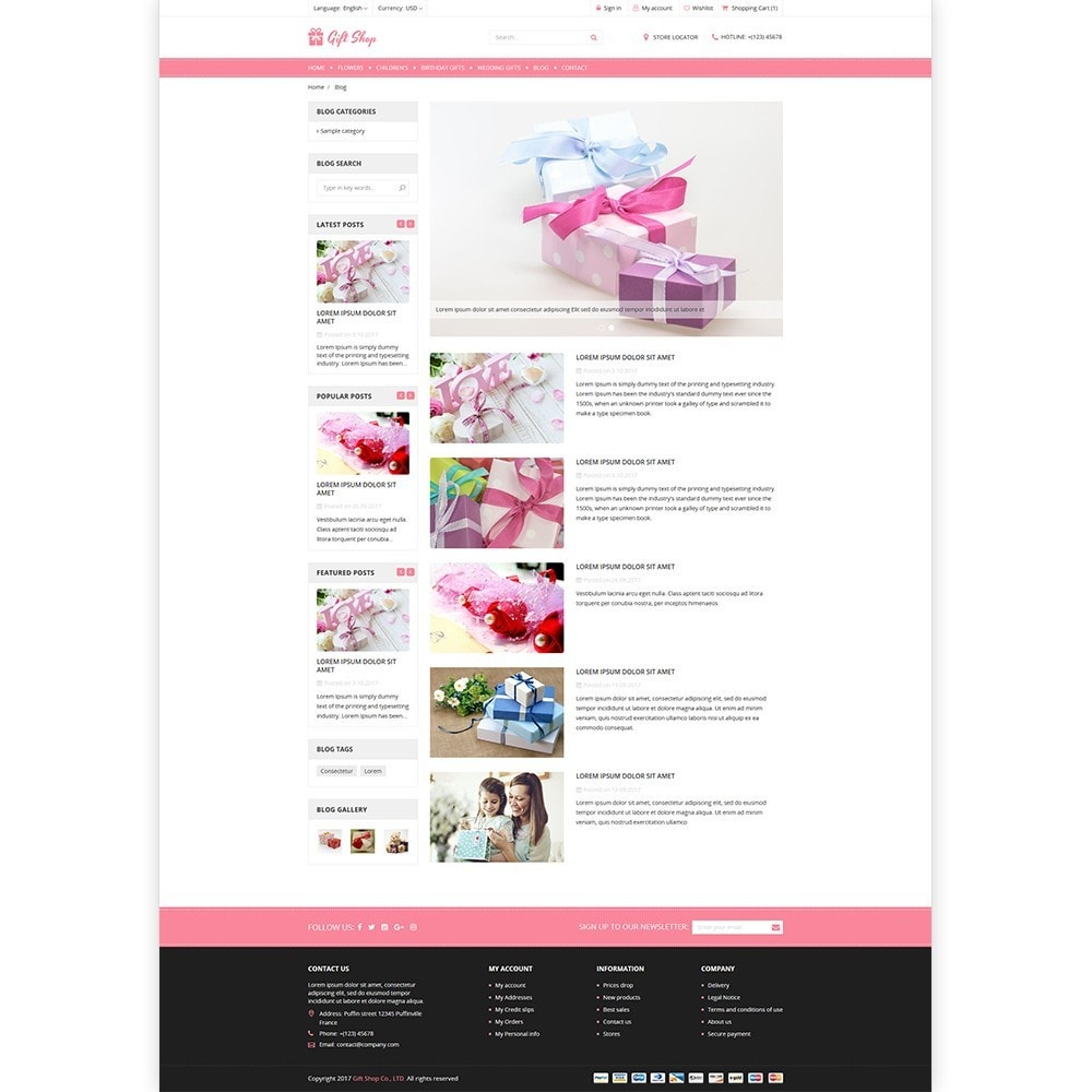 theme - Cadeaus, Bloemen & Gelegenheden - Gift Shop - For gift, flower, toy & accessories stores - 5