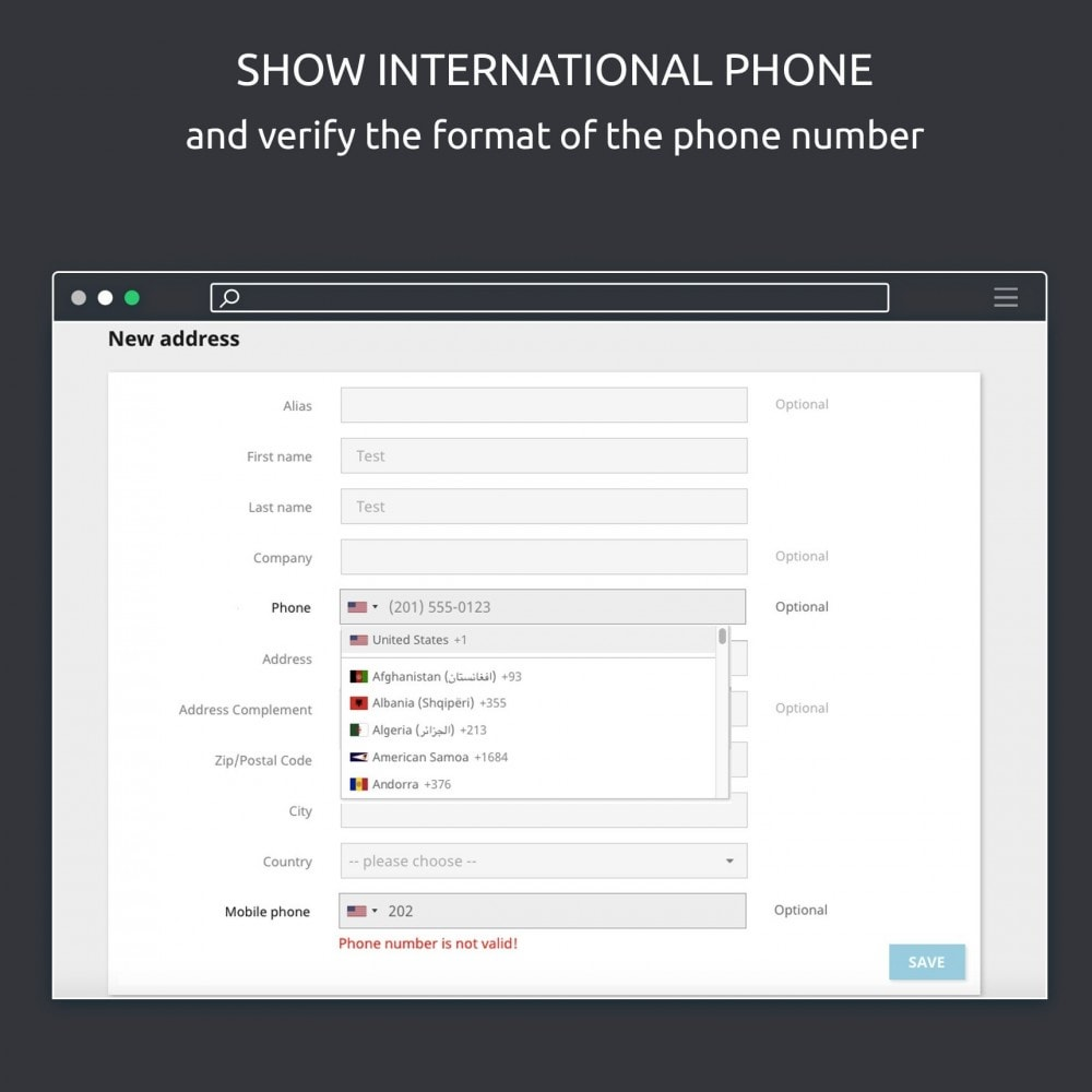 module - Импорт и Экспорт данных - Phone Number: international phone format, export csv - 3