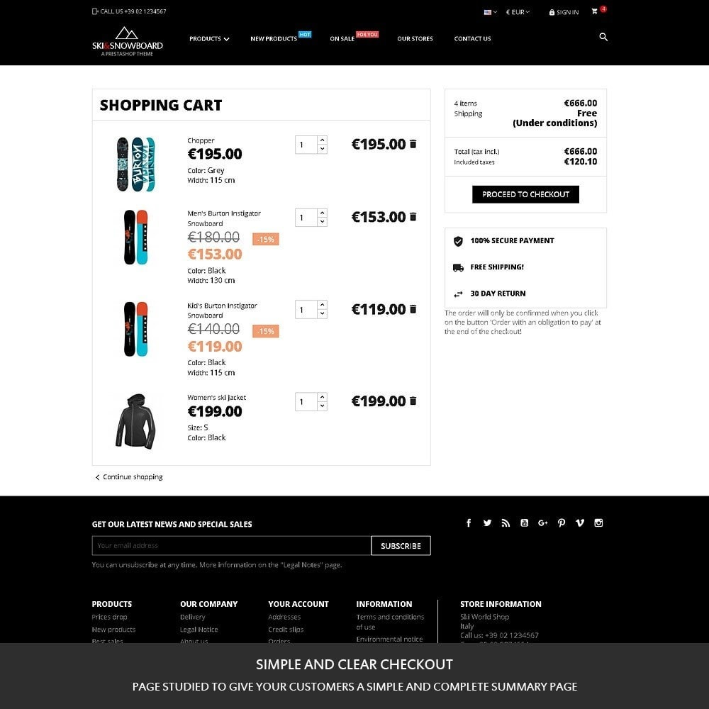 theme - Sport, Loisirs & Voyage - Ski & Snowboard - Magasin pour sports - 7