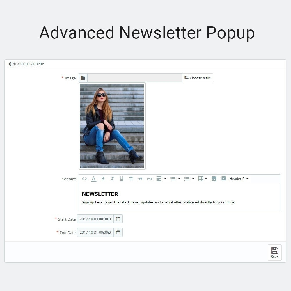 module - Всплывающие окна - Advanced Newsletter Popup - 3