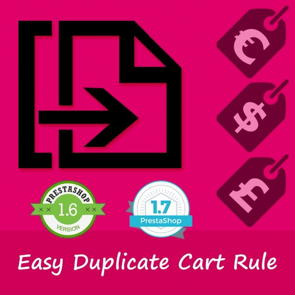 module - Social Network Coupon - Easy duplicate Cart Rule - 1