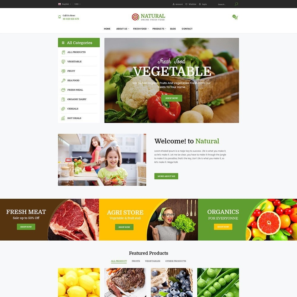 theme - Продовольствие и рестораны - Pts Natural – Fresh Organic Food - 3