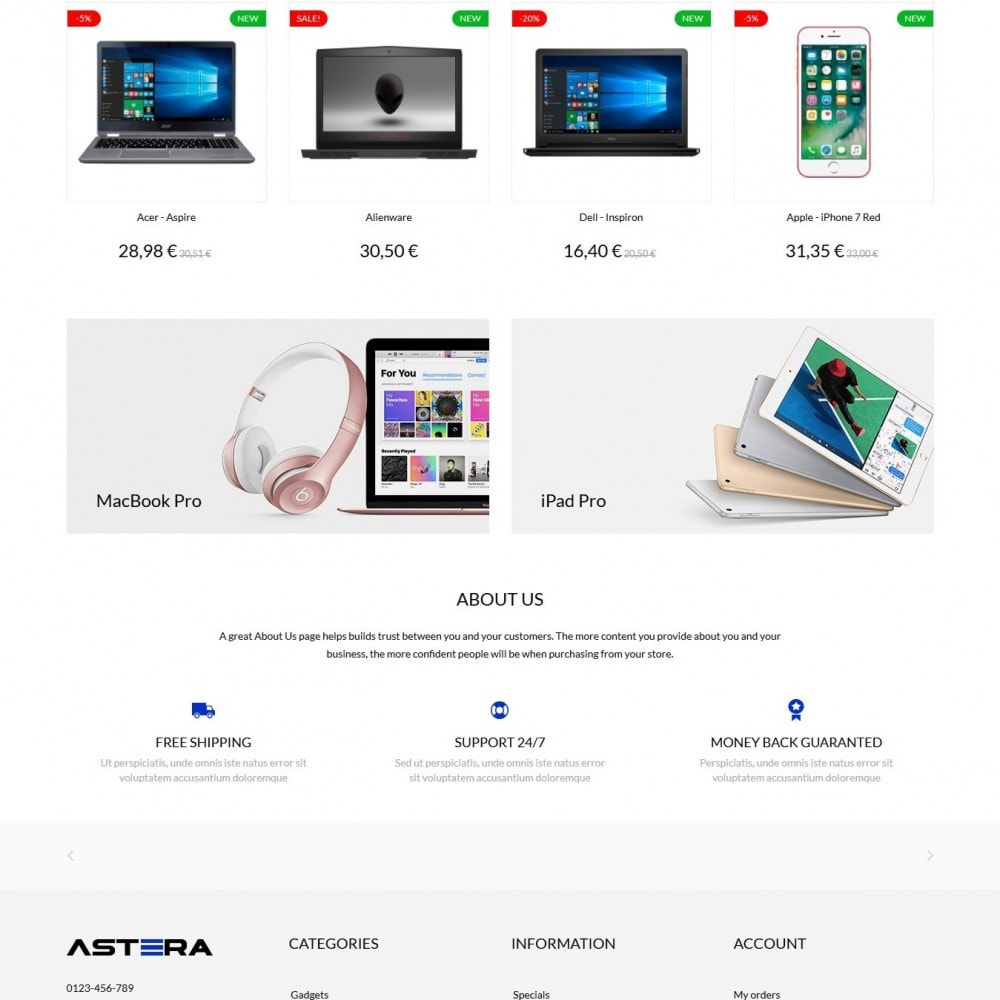 theme - Elettronica & High Tech - Astera - High-tech Shop - 3