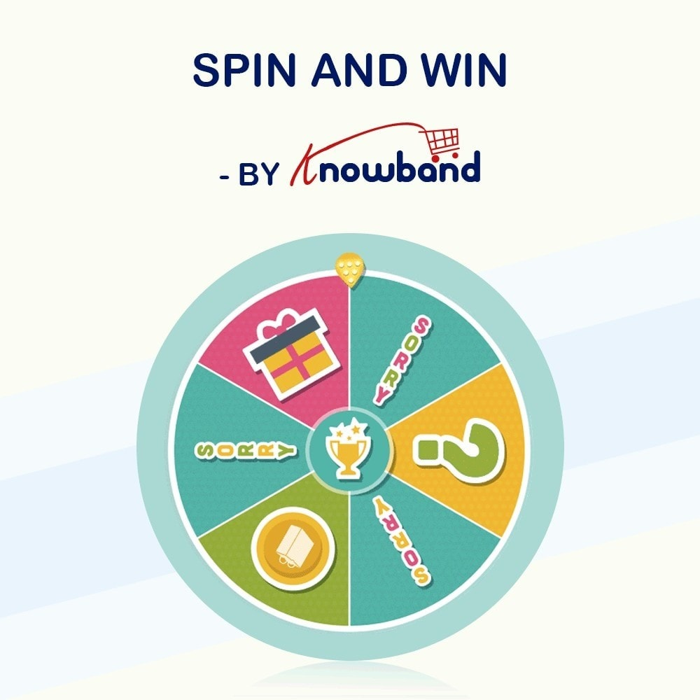 module - Promoties & Geschenken - Knowband-Entry,Exit and Subscription Popup-Spin and Win - 1