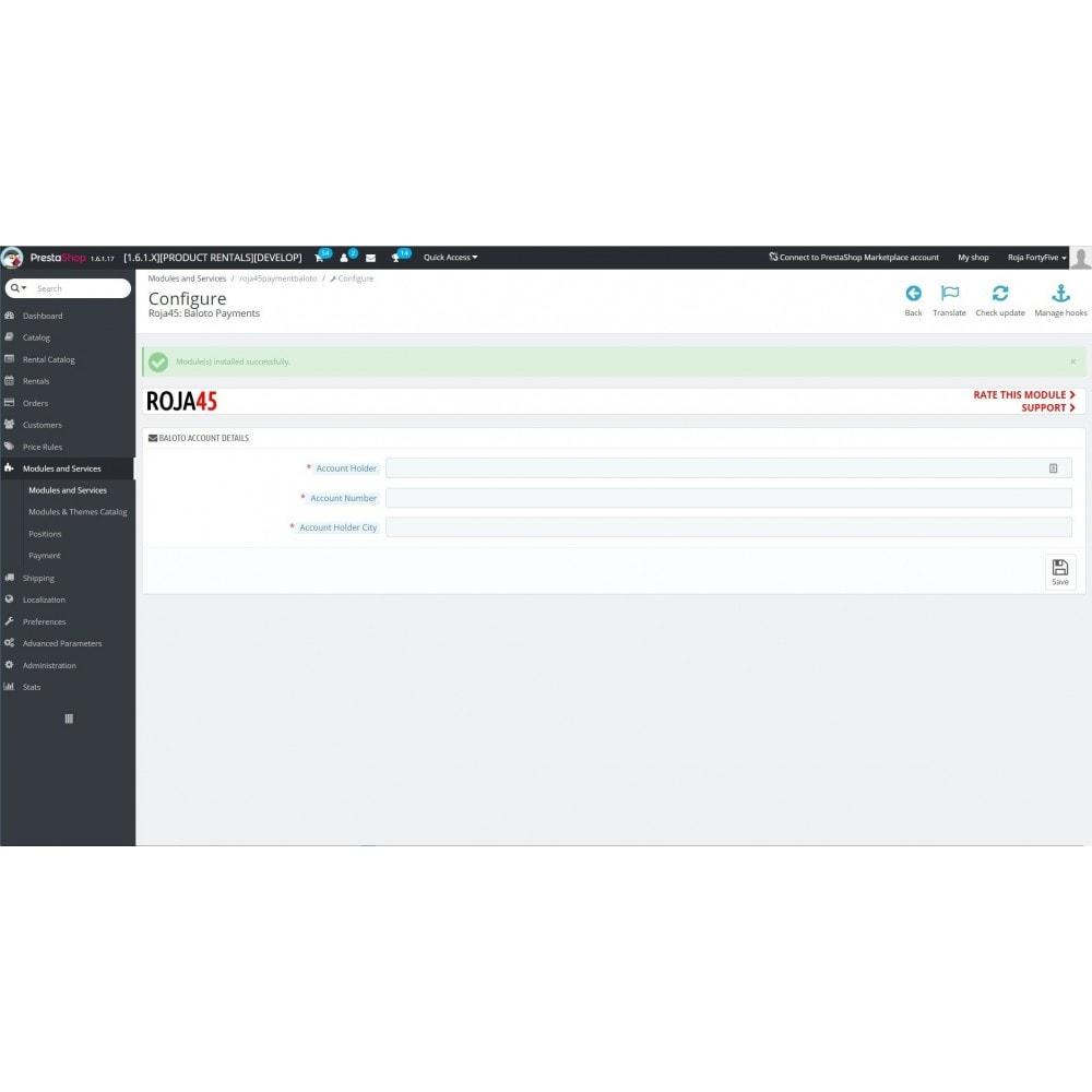 module - Betaling per Factuur - Baloto Payment Module - 1