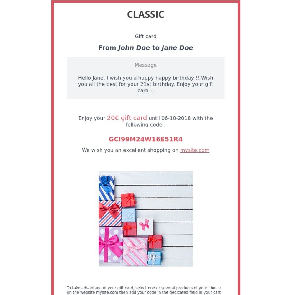 module - Список желаний и Подарочный купон - Premium Gift Card 1.6 - 1.7 - 2