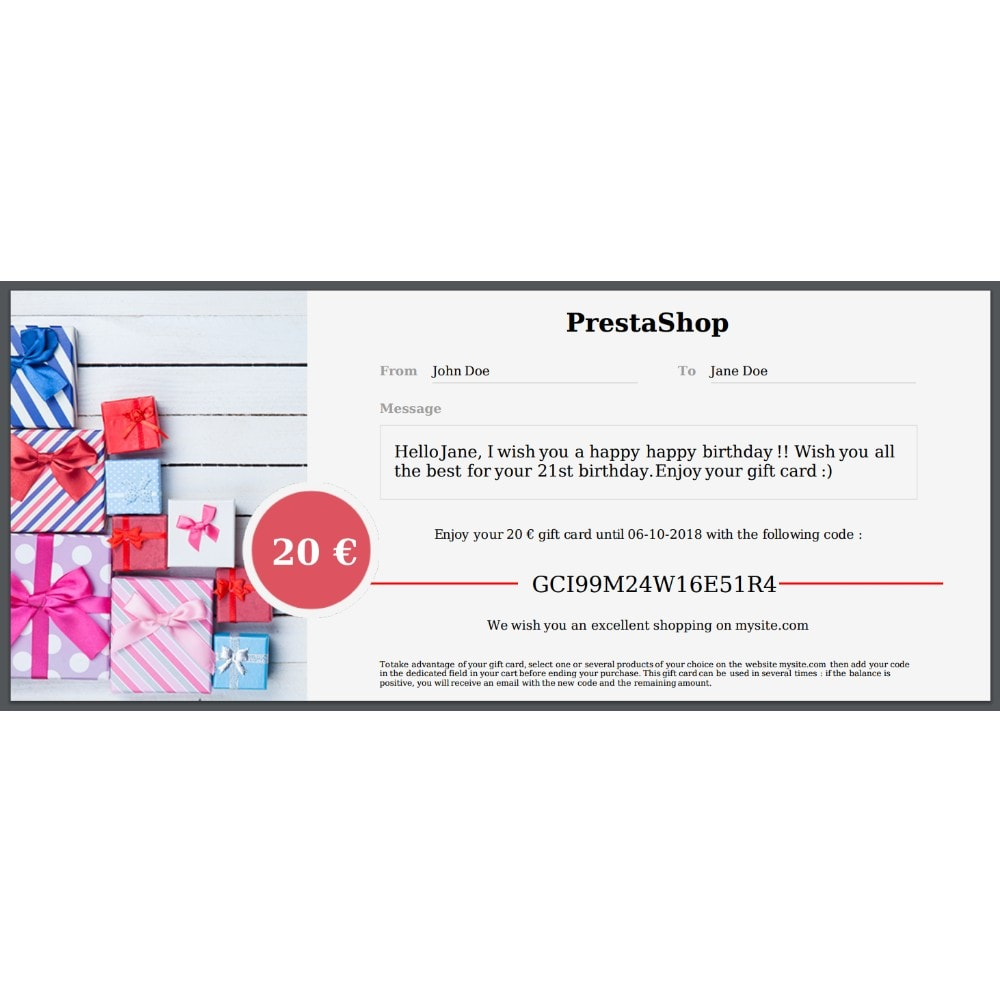module - Список желаний и Подарочный купон - Premium Gift Card 1.7 - 3