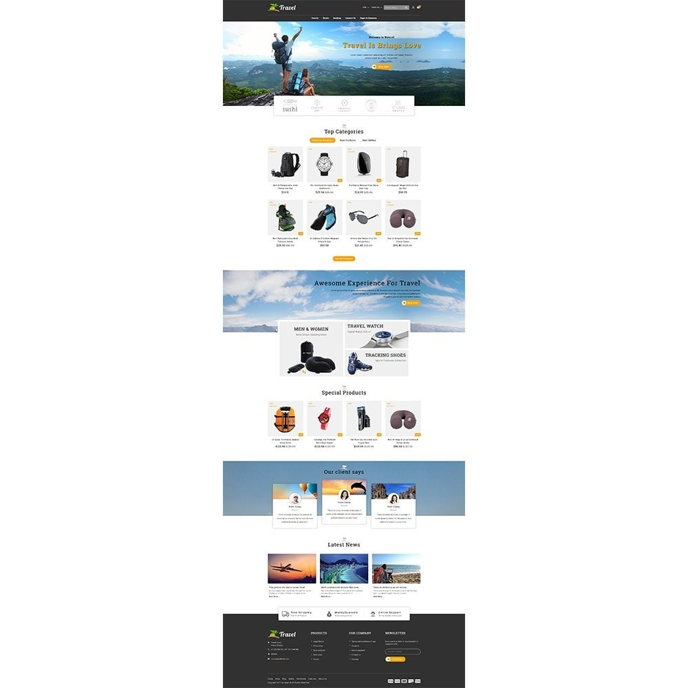 theme - Sport, Loisirs & Voyage - Travel Store - 2