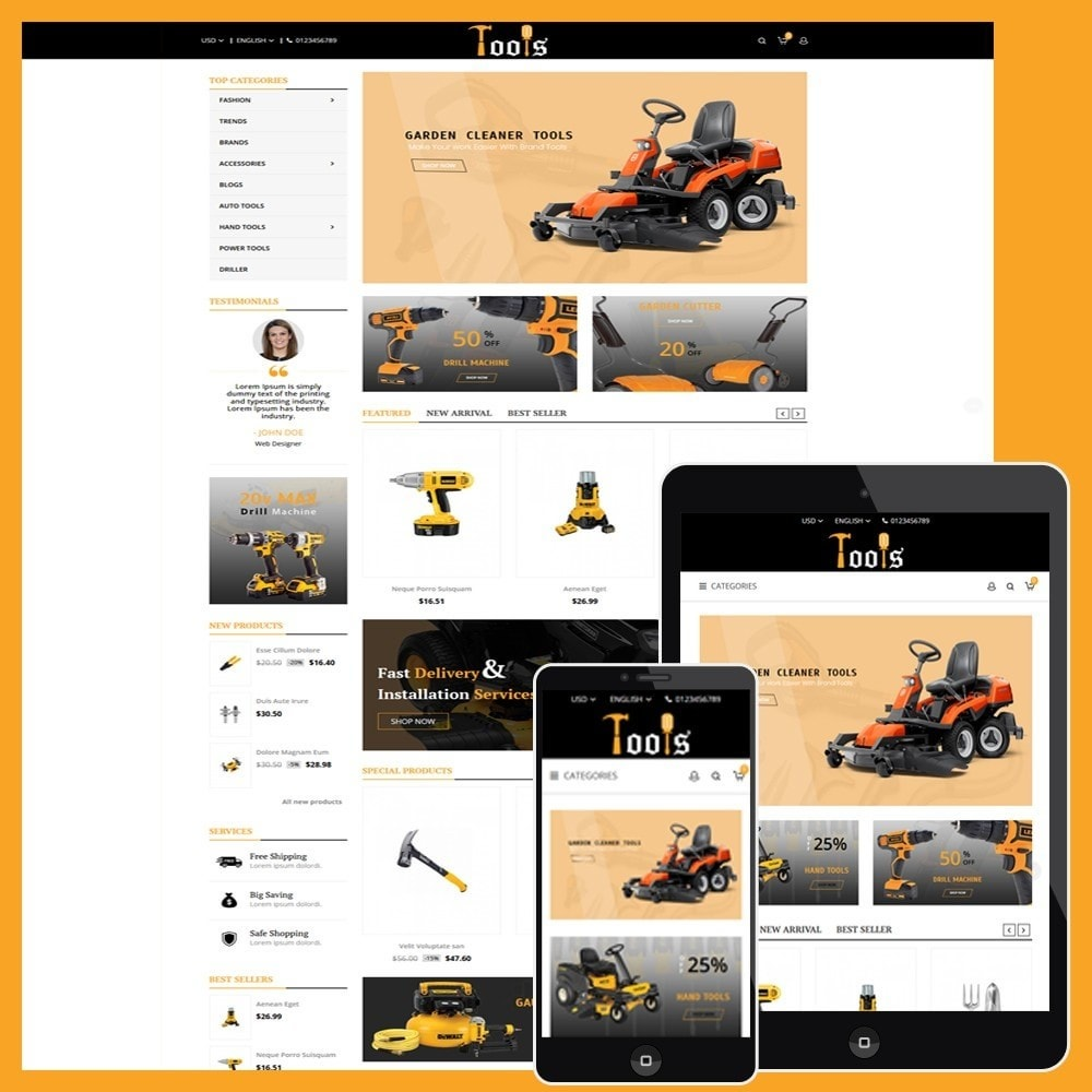 theme - Automotive & Cars - Tools Store - 1