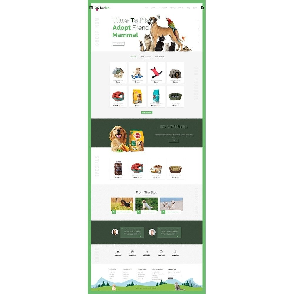 theme - Animals & Pets - Dearpets Pet Store - 2