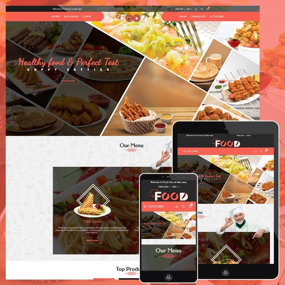 theme - Lebensmittel & Restaurants - Food Restro - 1