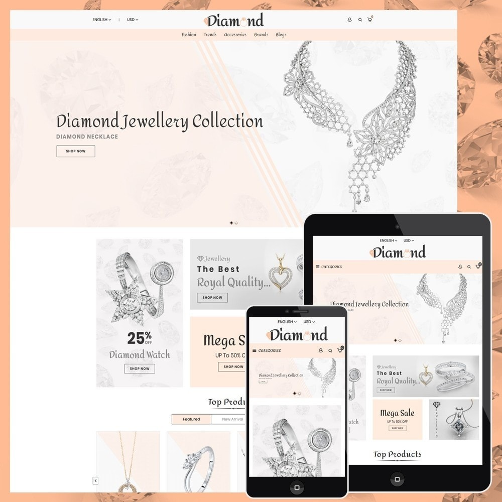 theme - Bellezza & Gioielli - Diamond Jewellery - 1