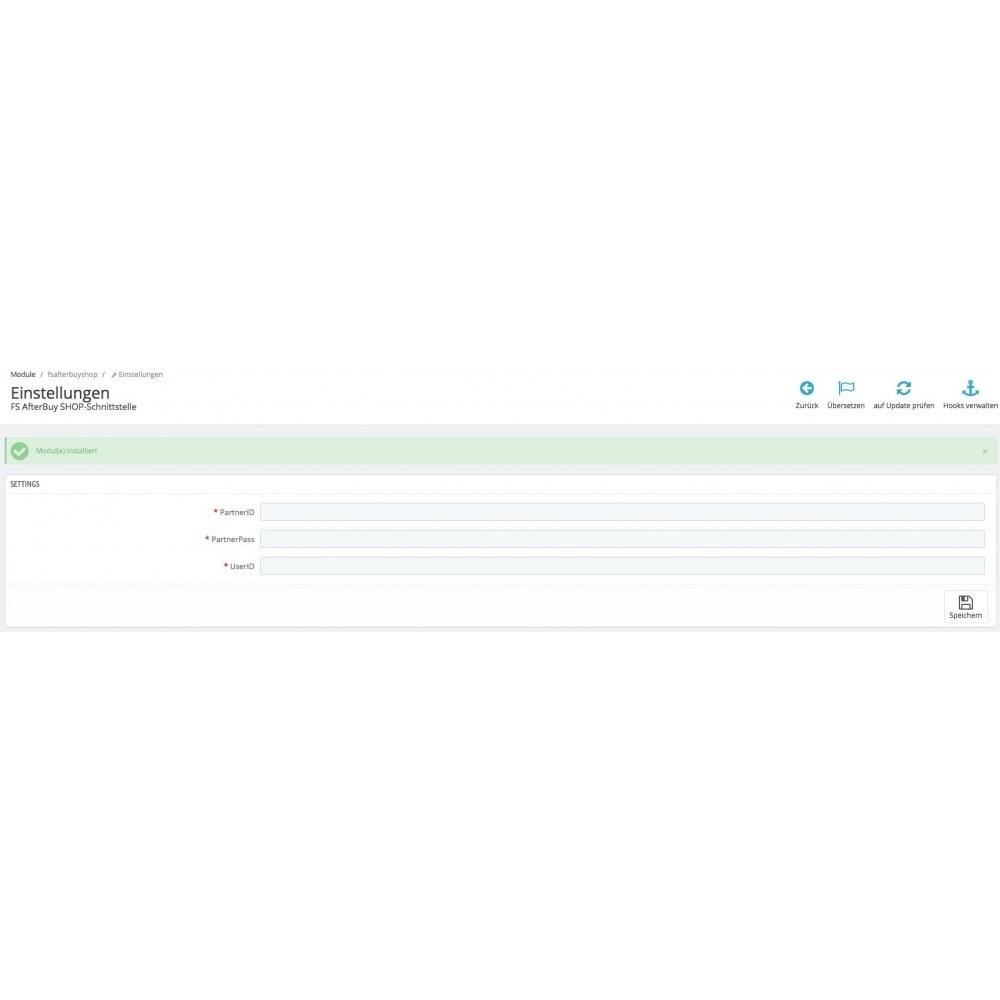 module - Datenabbindungen zu Drittsystemen (CRM, ERP, ...) - PrestaShop zu Afterbuy Bestellübertragung - 4