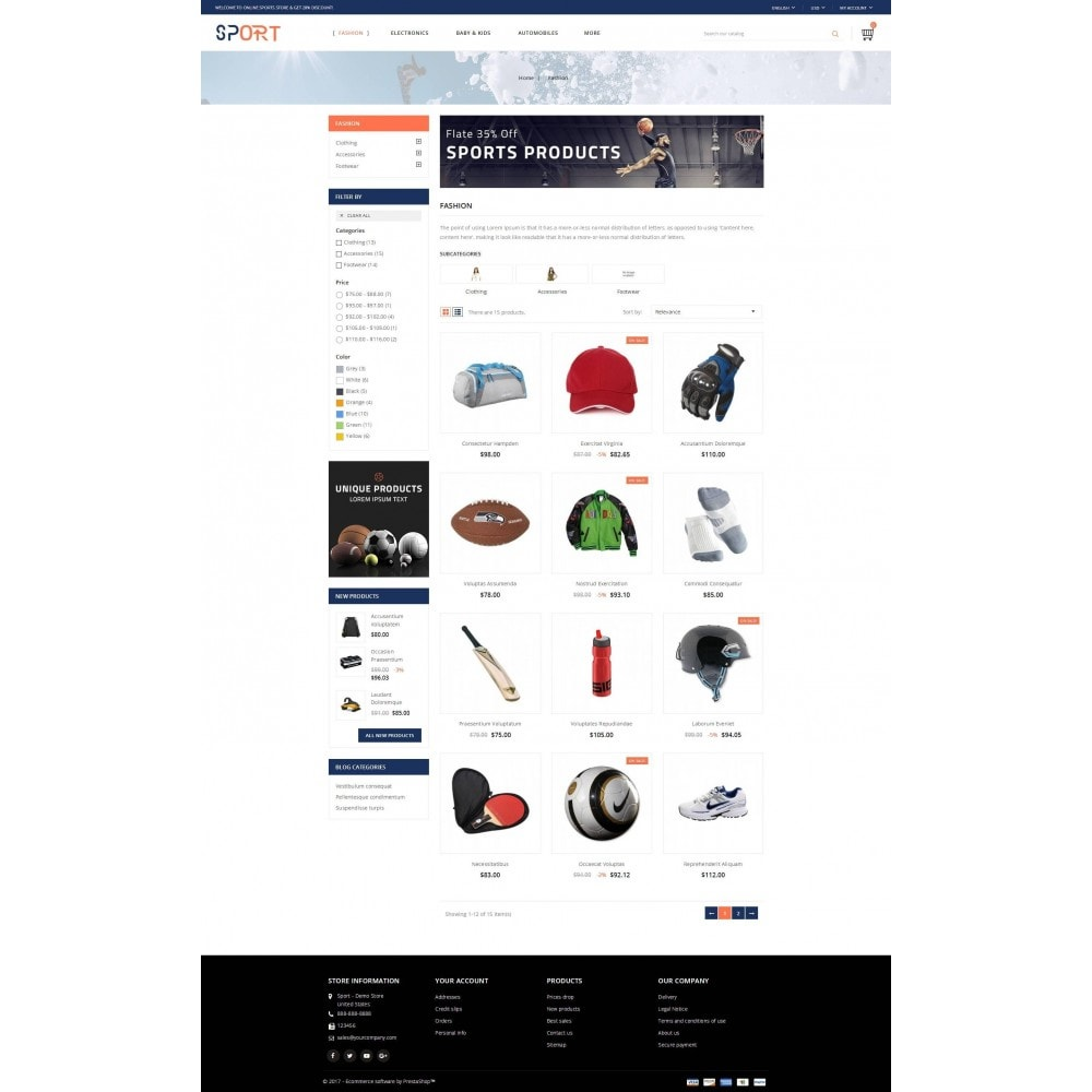 theme - Sport, Loisirs & Voyage - Sports Store - 3