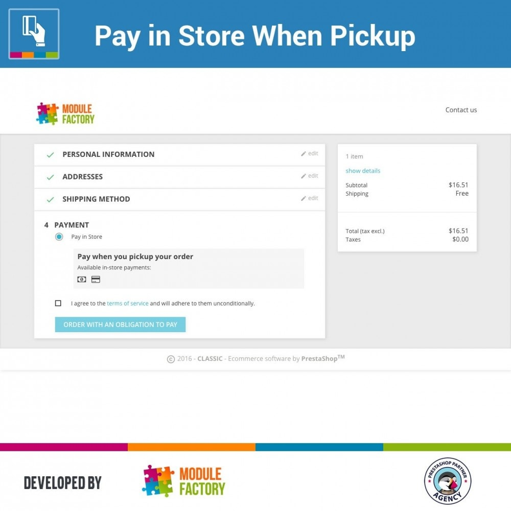 module - Betaling in de Winkel - Pay in Store When Pickup - 1