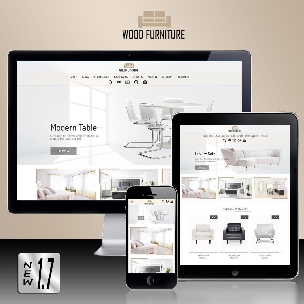 theme - Дом и сад - Wood Furniture Store - 1