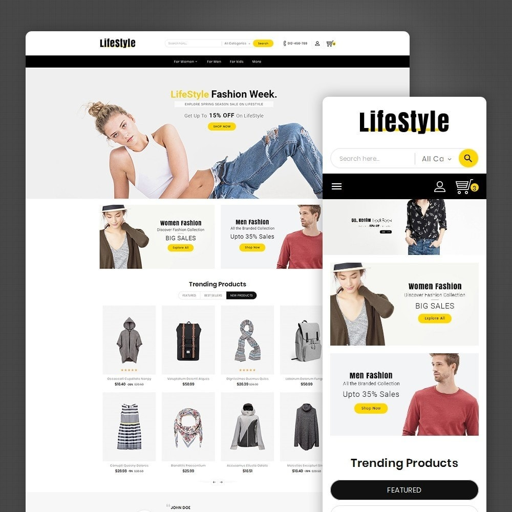 theme - Mode & Chaussures - Life Style Fashion Store - 1