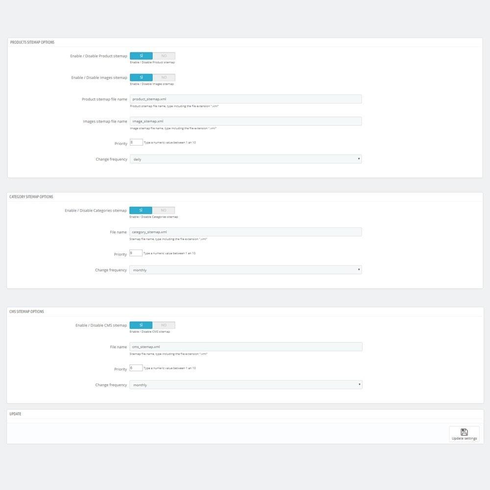 module - SEO (référencement naturel) - AW XML Sitemap Generator - 2