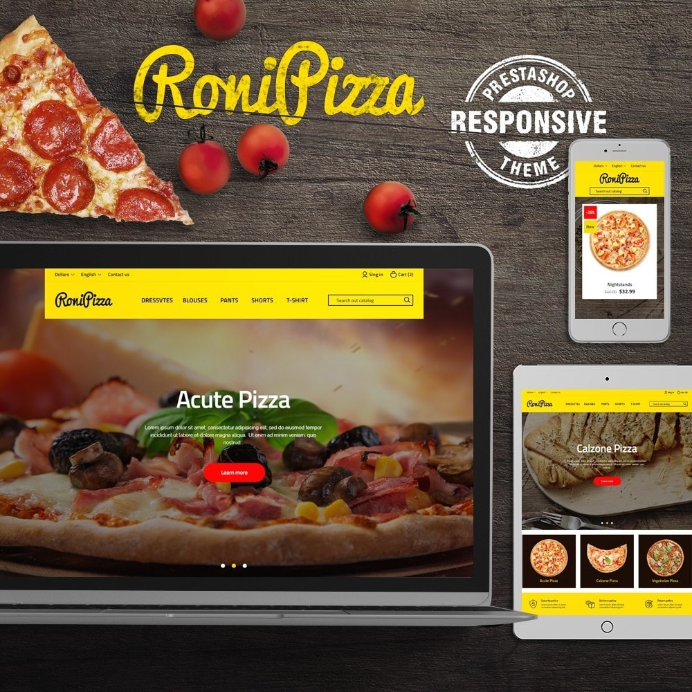 theme - Food & Restaurant - RoniPizza - 1
