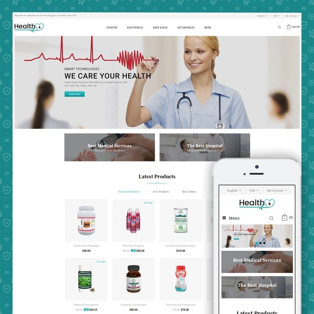 theme - Health & Beauty - Health - Medical Store - 1