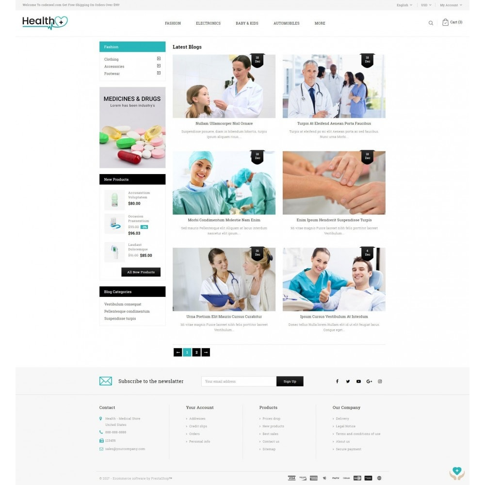 theme - Salute & Bellezza - Health - Medical Store - 9