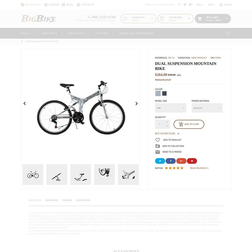 theme - Sport, Attività & Viaggi - BigBike - Un Sito di Negozio di Biciclettte - 6
