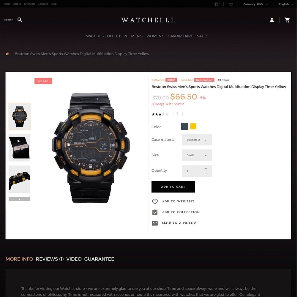 theme - Fashion & Shoes - Watchelli - Luxury Watches Store - 3