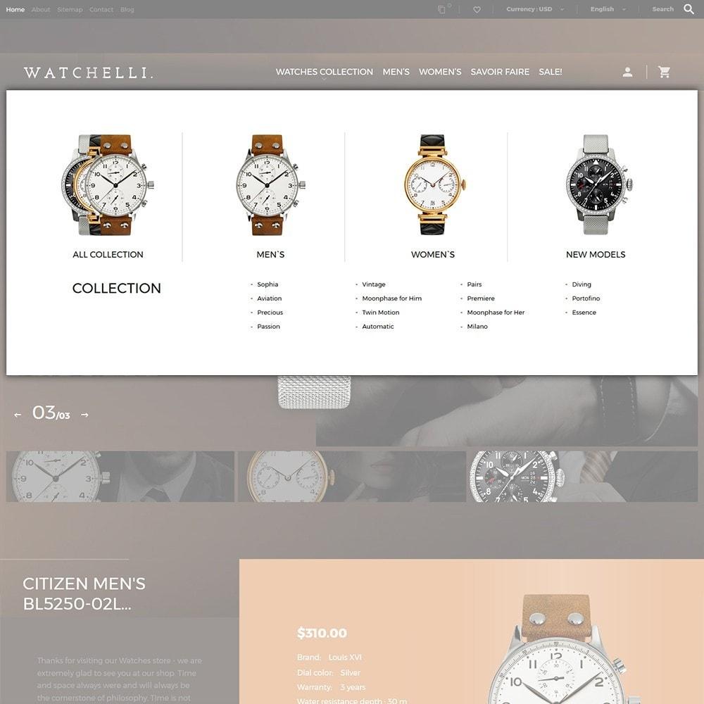 theme - Мода и обувь - Watchelli - шаблон по продаже часов - 6