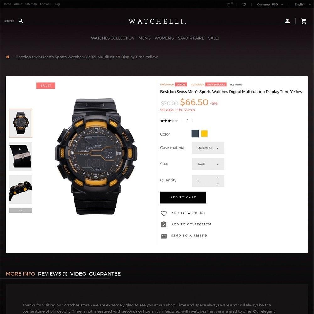 theme - Moda & Calzature - Watchelli - per Un Sito di Orologi - 3