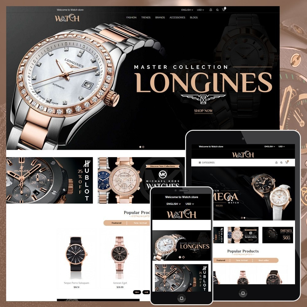 theme - Jewelry & Accessories - Luxury Watch Shop - 1