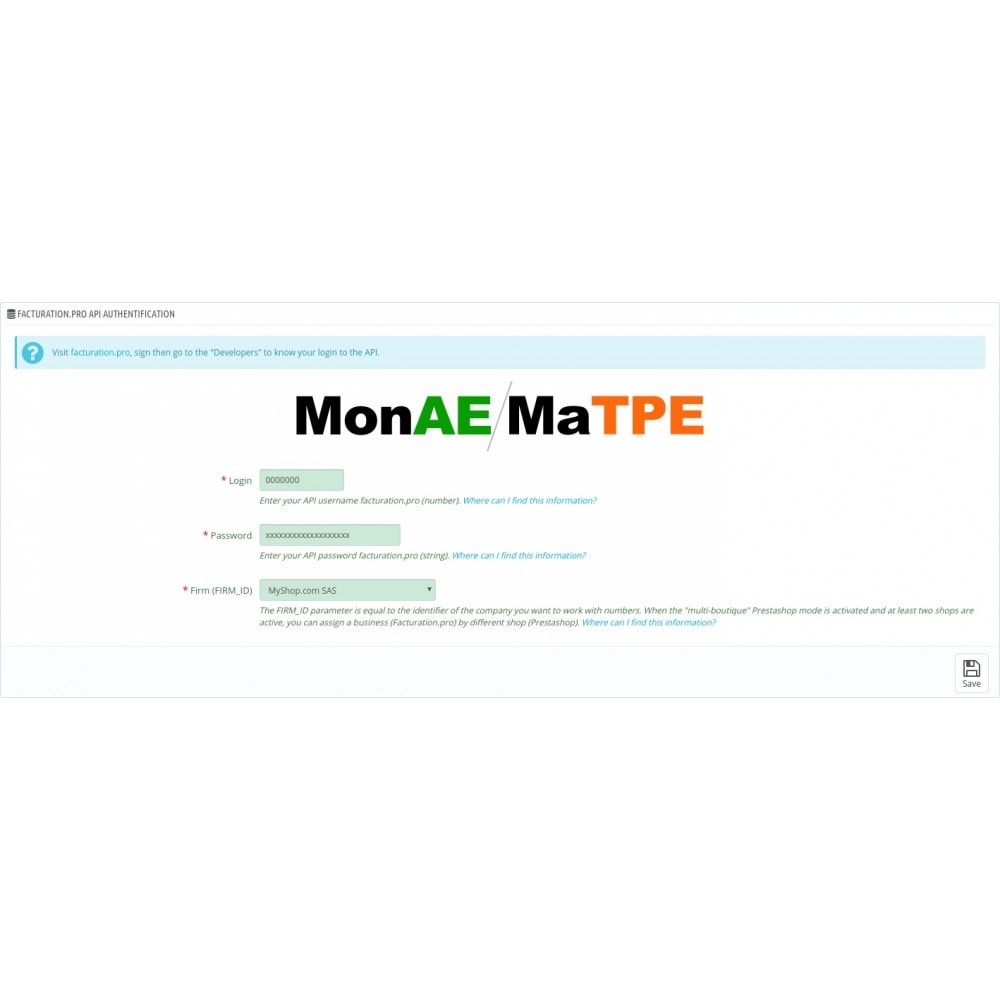module - Data Integraties (CRM, ERP...) - facturation.pro (Mon AE, Ma TPE) - 13