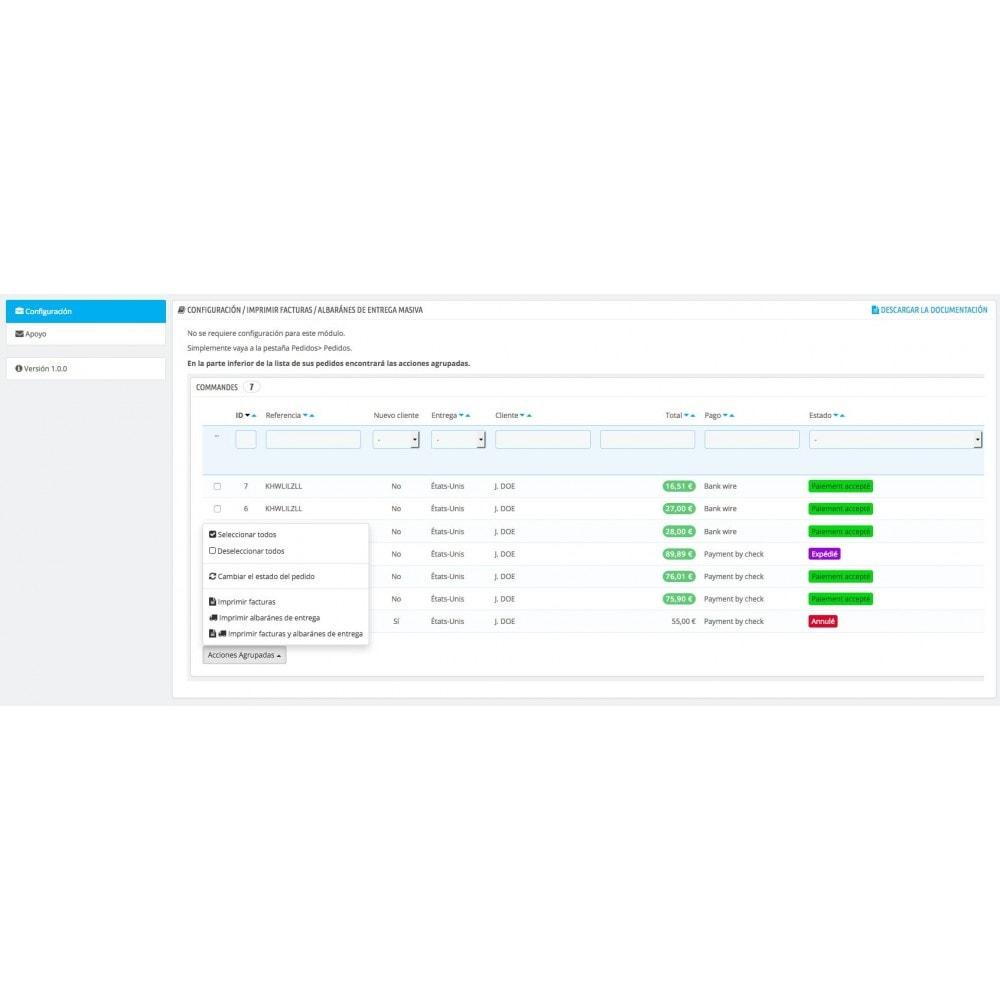 module - Contabilidad y Facturas - Imprimir facturas y albaranes de masas - 1