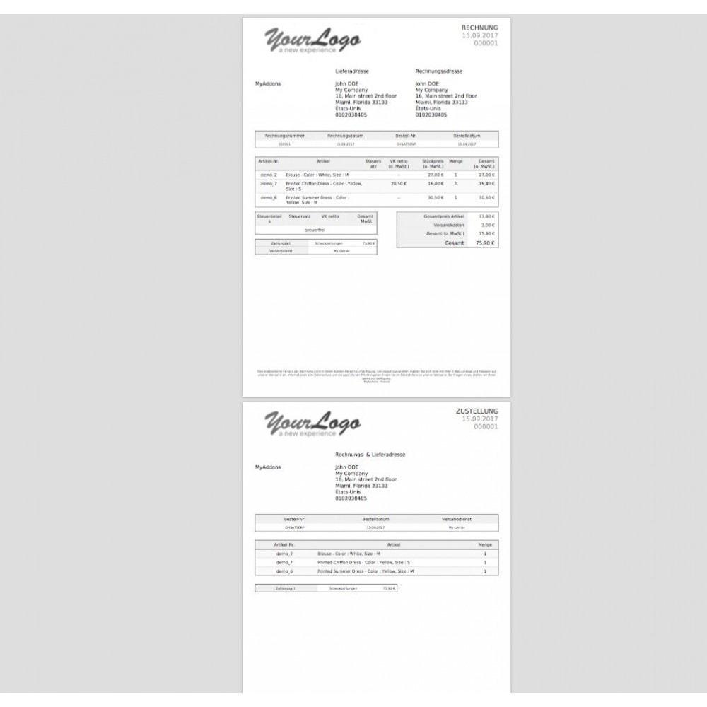 module - Buchhaltung & Rechnung - Rechnungen und Massengutschein drucken - 4