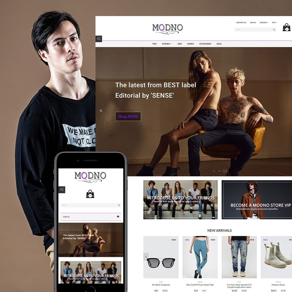 theme - Mode & Chaussures - Modno - Clothing and Fashion Store - 1