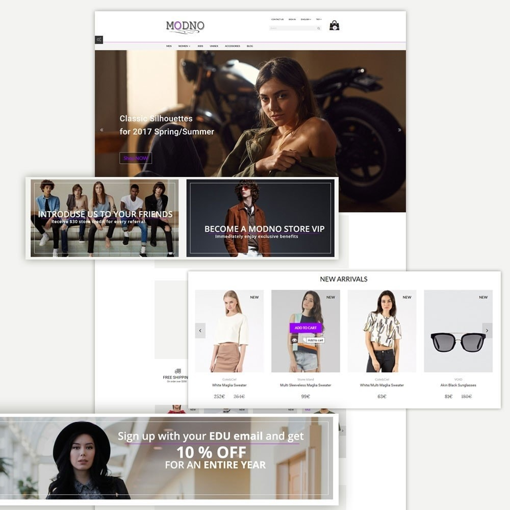 theme - Mode & Chaussures - Modno - Clothing and Fashion Store - 2