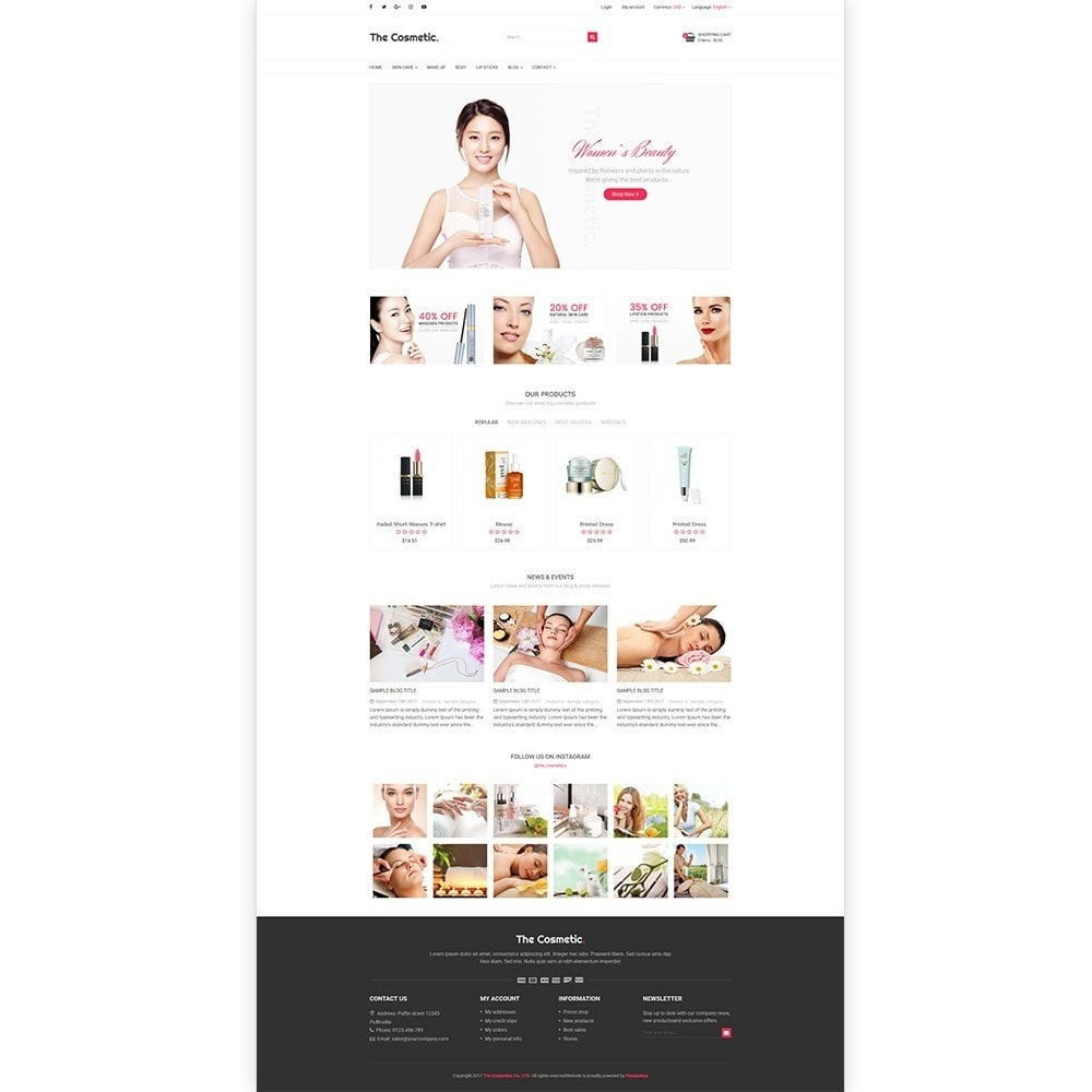 theme - Santé & Beauté - The Cosmetics - Beauty, health and cosmetic store - 2