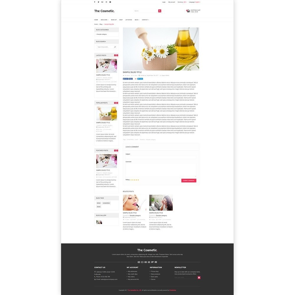 theme - Zdrowie & Uroda - The Cosmetics - Beauty, health and cosmetic store - 6