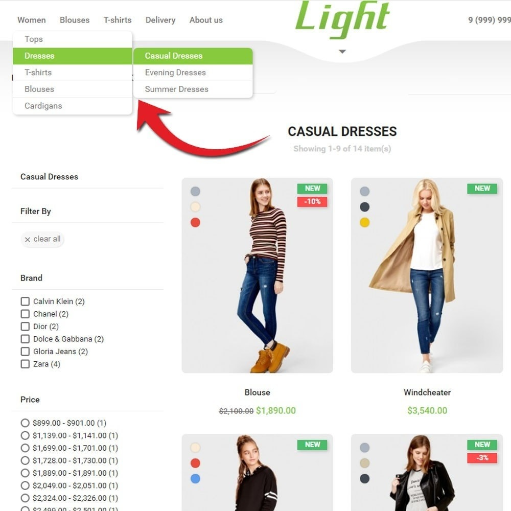 theme - Moda & Obuwie - Light Clothes Store - 6