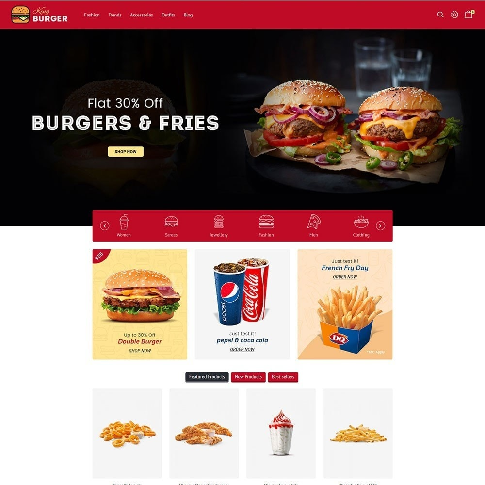 theme - Alimentation & Restauration - King Burger Store - 2