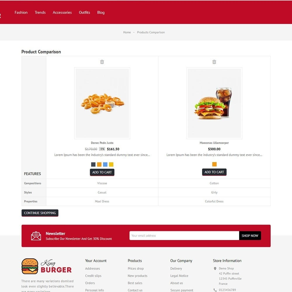 theme - Alimentation & Restauration - King Burger Store - 7
