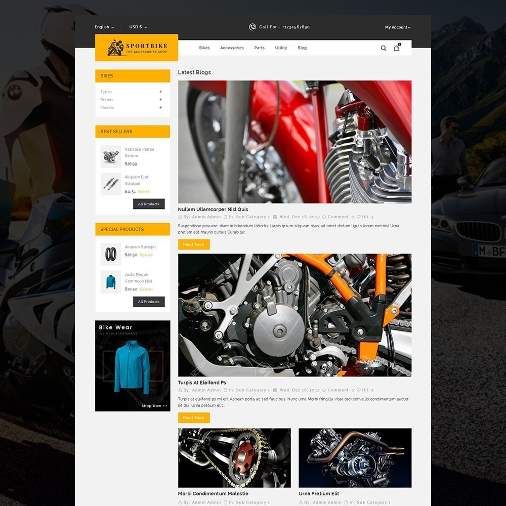 theme - Carros & Motos - Sports Bike Auto Store - 6