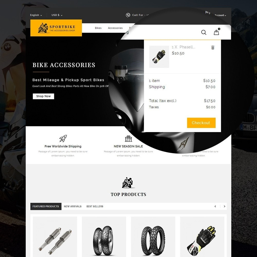 theme - Auto's & Motoren - Sports Bike Auto Store - 7