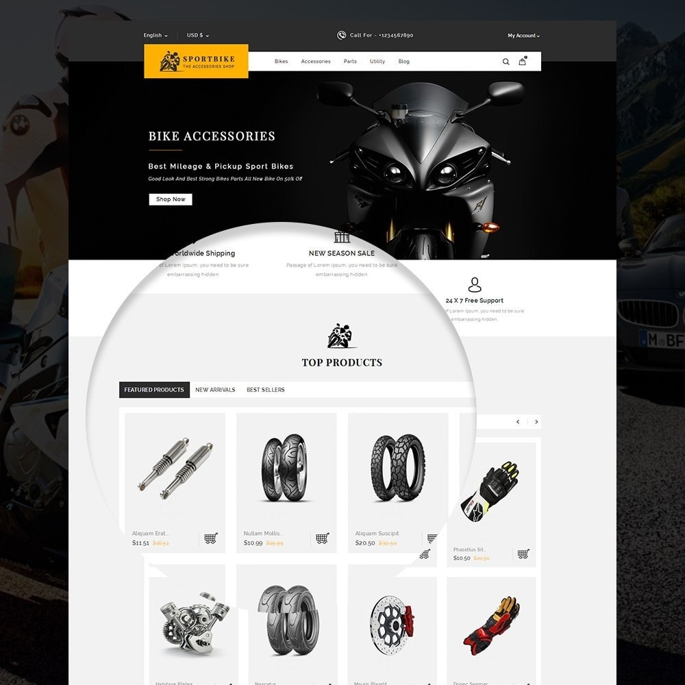 theme - Carros & Motos - Sports Bike Auto Store - 9
