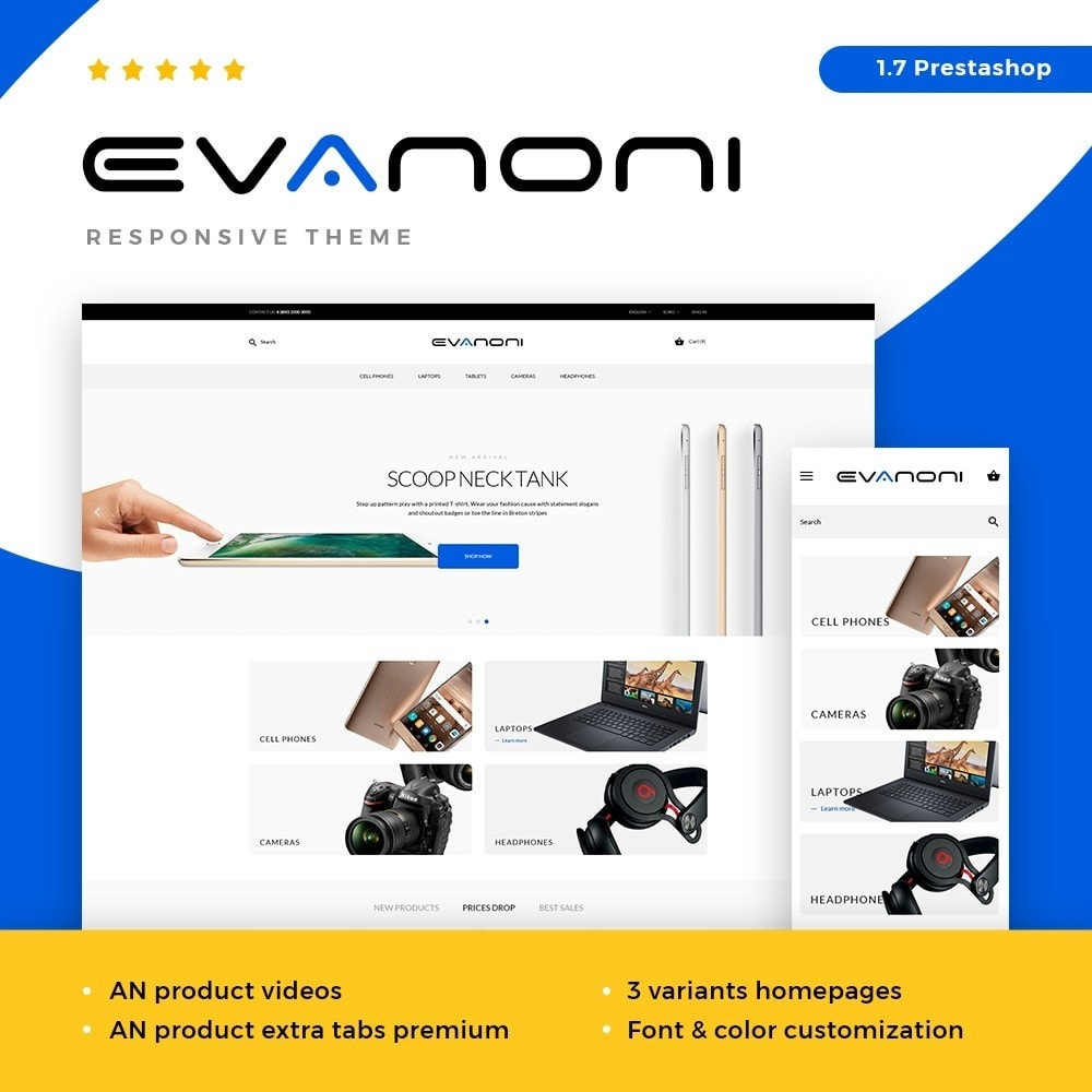 theme - Elettronica & High Tech - Evanoni - High-tech Shop - 1