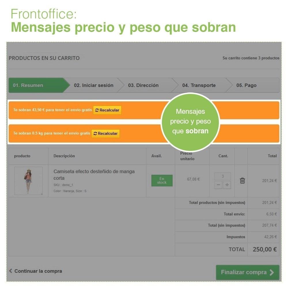 module - Gastos de transporte - Envío Gratis por Zona, Transportista, Peso y Precio - 9