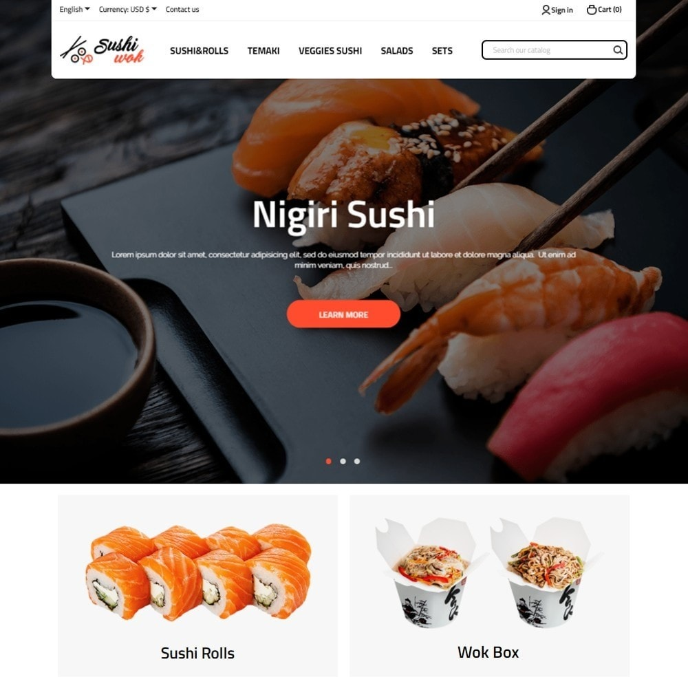 theme - Food & Restaurant - Sushi Wok - 2