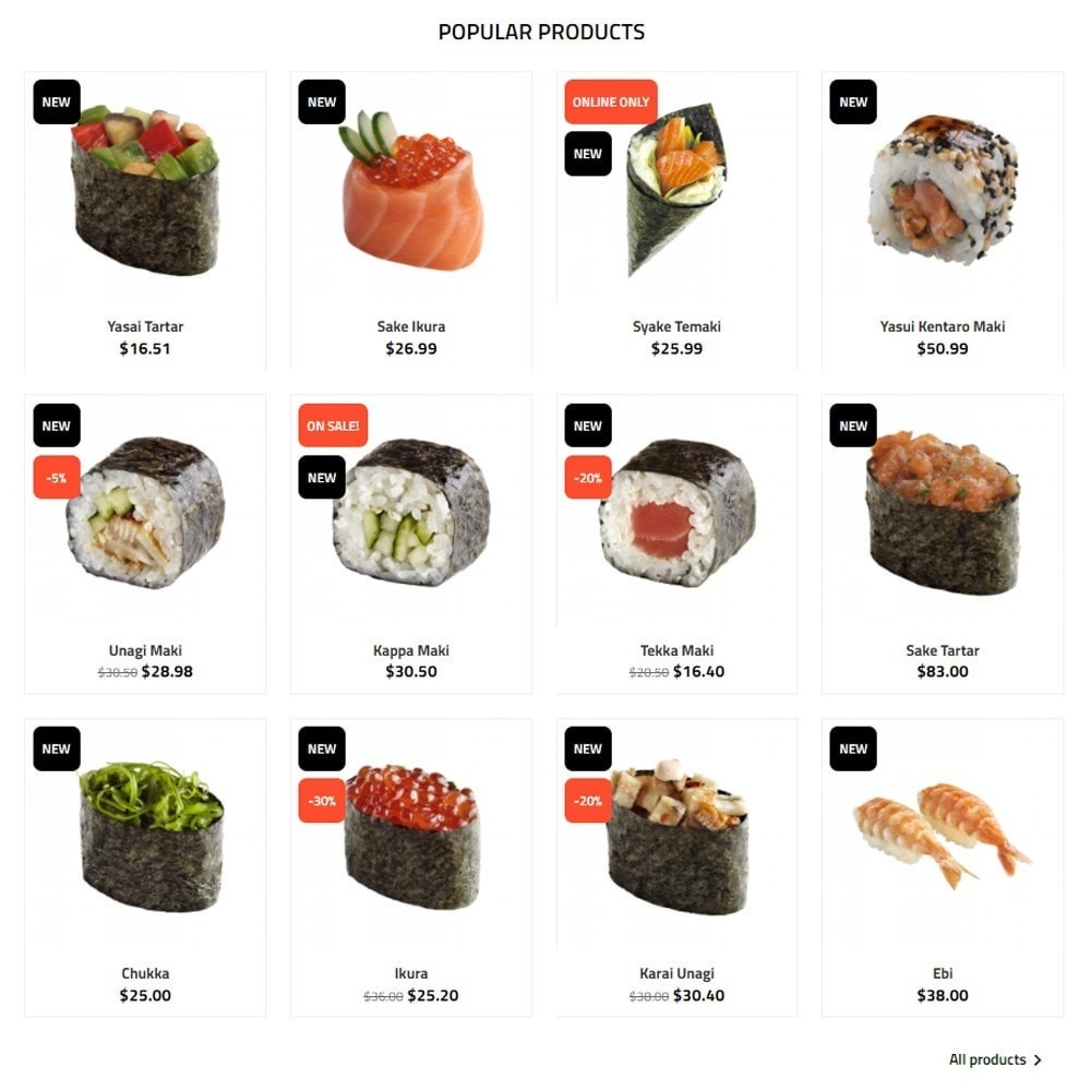theme - Lebensmittel & Restaurants - Sushi Wok - 3