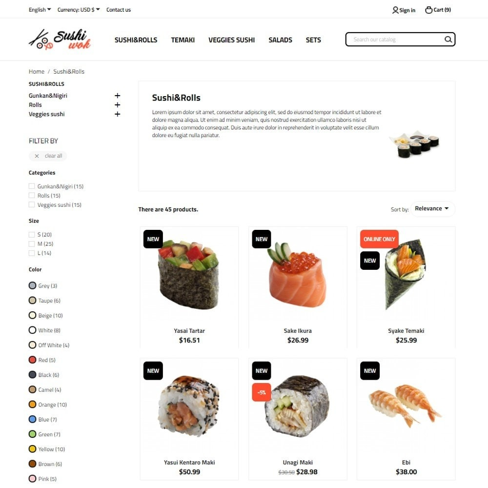 theme - Lebensmittel & Restaurants - Sushi Wok - 5