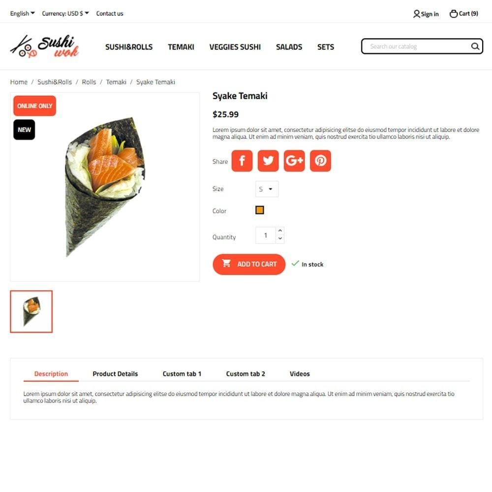 theme - Alimentos & Restaurantes - Sushi Wok - 6